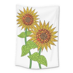 Sunflowers Flower Bloom Nature Small Tapestry