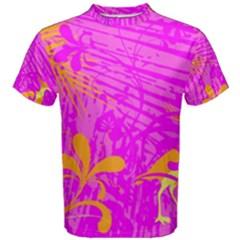 Spring Tropical Floral Palm Bird Men s Cotton Tee