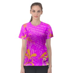 Spring Tropical Floral Palm Bird Women s Sport Mesh Tee