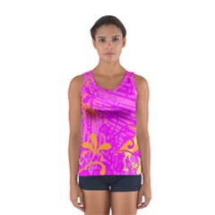 Spring Tropical Floral Palm Bird Women s Sport Tank Top