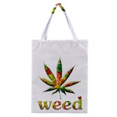 Marijuana Leaf Bright Graphic Classic Tote Bag