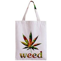 Marijuana Leaf Bright Graphic Zipper Classic Tote Bag