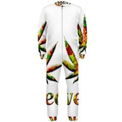 Marijuana Leaf Bright Graphic Onepiece Jumpsuit (men)