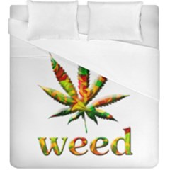 Marijuana Leaf Bright Graphic Duvet Cover Double Side (king Size)