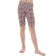 Nature Collage Print Kids  Mid Length Swim Shorts