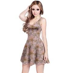 Nature Collage Print Reversible Sleeveless Dress