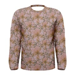 Nature Collage Print Men s Long Sleeve Tee