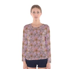 Nature Collage Print Women s Long Sleeve Tee