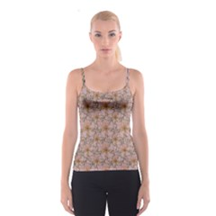 Nature Collage Print Spaghetti Strap Top