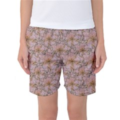 Nature Collage Print Women s Basketball Shorts