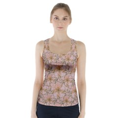 Nature Collage Print Racer Back Sports Top