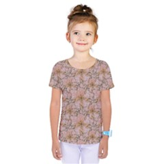 Nature Collage Print Kids  One Piece Tee