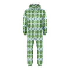 Leaf Flower Floral Green Hooded Jumpsuit (Kids)