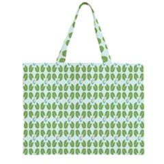 Leaf Flower Floral Green Large Tote Bag