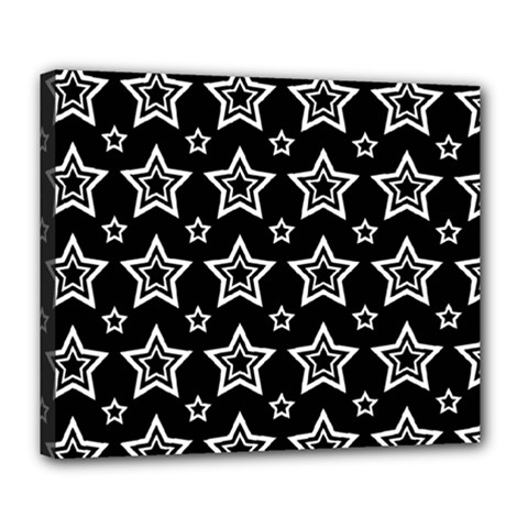 Star Black White Line Space Deluxe Canvas 24  x 20