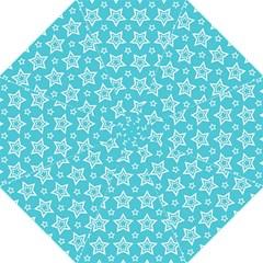 Star Blue White Line Space Sky Folding Umbrellas