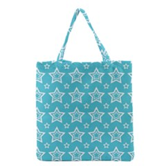 Star Blue White Line Space Sky Grocery Tote Bag
