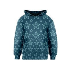 Star Blue White Line Space Kids  Pullover Hoodie