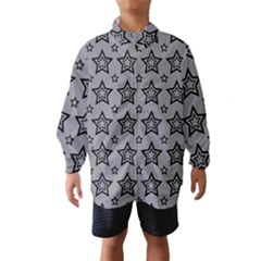 Star Grey Black Line Space Wind Breaker (Kids)