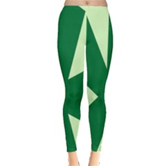 Starburst Shapes Large Circle Green Leggings