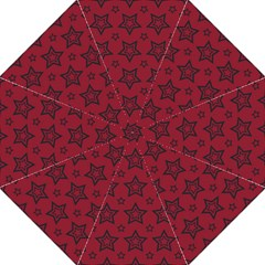 Star Red Black Line Space Straight Umbrellas