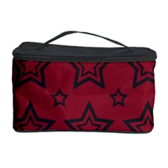 Star Red Black Line Space Cosmetic Storage Case