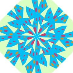 Starburst Shapes Large Circle Green Blue Red Orange Circle Folding Umbrellas