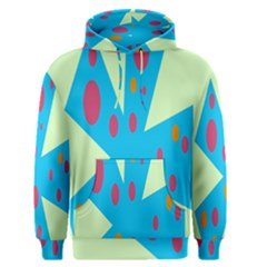 Starburst Shapes Large Circle Green Blue Red Orange Circle Men s Pullover Hoodie