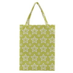 Star Yellow White Line Space Classic Tote Bag
