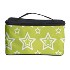 Star Yellow White Line Space Cosmetic Storage Case