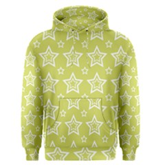 Star Yellow White Line Space Men s Pullover Hoodie