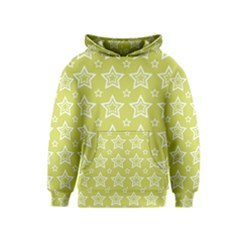 Star Yellow White Line Space Kids  Pullover Hoodie