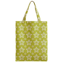 Star Yellow White Line Space Zipper Classic Tote Bag