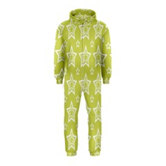 Star Yellow White Line Space Hooded Jumpsuit (Kids)