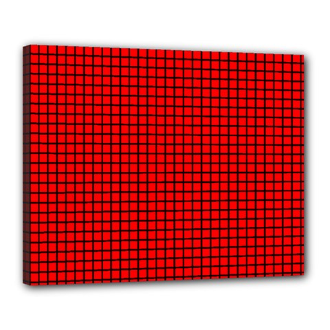 Red And Black Canvas 20  x 16
