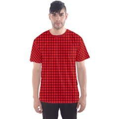 Red And Black Men s Sport Mesh Tee
