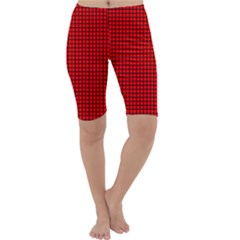 Red And Black Cropped Leggings