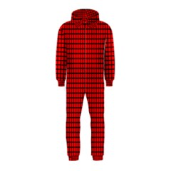 Red And Black Hooded Jumpsuit (Kids)