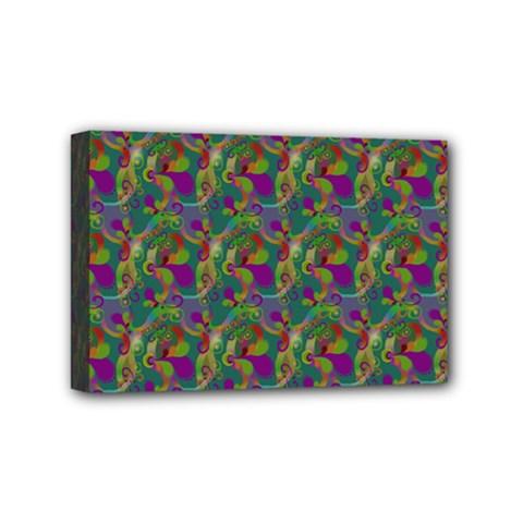 Pattern Abstract Paisley Swirls Mini Canvas 6  X 4
