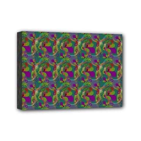 Pattern Abstract Paisley Swirls Mini Canvas 7  X 5