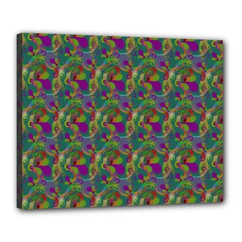 Pattern Abstract Paisley Swirls Canvas 20  x 16