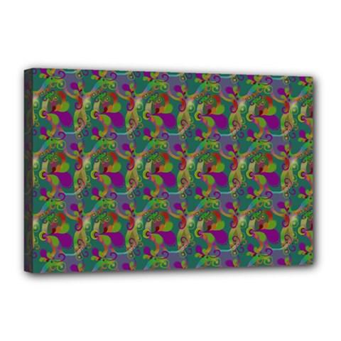 Pattern Abstract Paisley Swirls Canvas 18  x 12