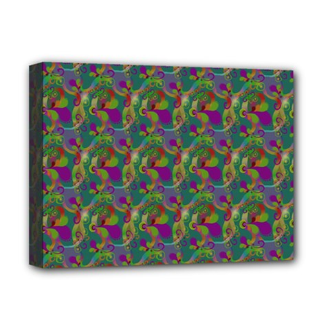 Pattern Abstract Paisley Swirls Deluxe Canvas 16  x 12