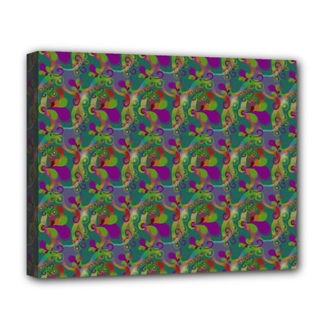 Pattern Abstract Paisley Swirls Deluxe Canvas 20  x 16