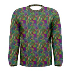 Pattern Abstract Paisley Swirls Men s Long Sleeve Tee