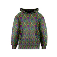 Pattern Abstract Paisley Swirls Kids  Pullover Hoodie