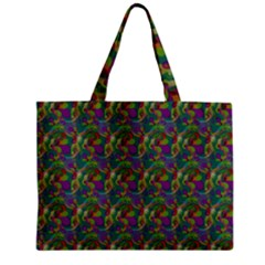 Pattern Abstract Paisley Swirls Zipper Mini Tote Bag