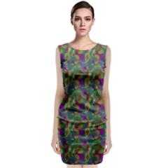 Pattern Abstract Paisley Swirls Classic Sleeveless Midi Dress