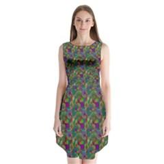Pattern Abstract Paisley Swirls Sleeveless Chiffon Dress