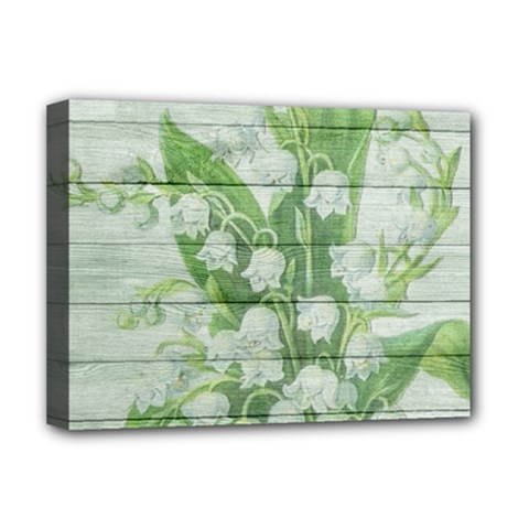 On Wood May Lily Of The Valley Deluxe Canvas 16  x 12